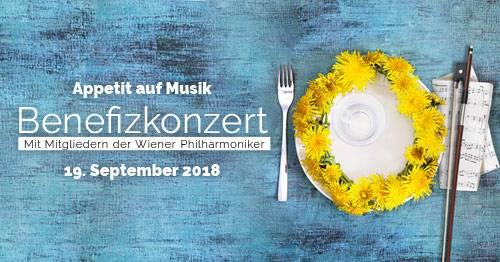 Benefizkonzert mit Mitgliedern der Wiener Philharmoniker, 19.9.2018, 19.30 Uhr, Konzerthaus, Mozartsaal